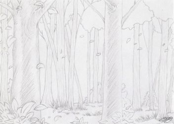Forest Sketch by ElyGraphic