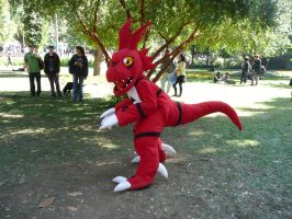 GUILMON COSPLAY COSTUME by chocoloverx3