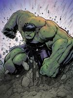 Hulk smash coloured by belgerles