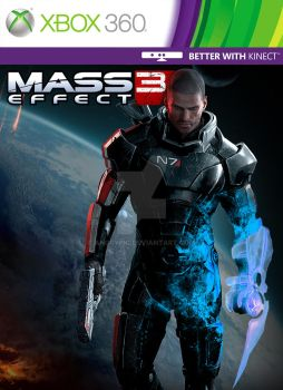 Custom Mass Effect 3 Xbox 360 Cover by AngryPIG