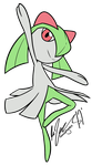 Commissions - Kirlia by WHATiFGirl