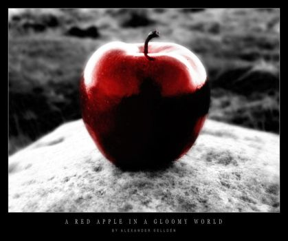 A Red Apple in a Gloomy World by PhotoTrad