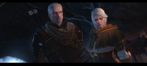 Geralt and Ciri [The Witcher 3] by Breadblack
