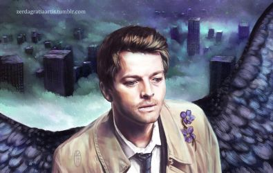 Castiel before his descent to the Underworld by zerda-vulpes