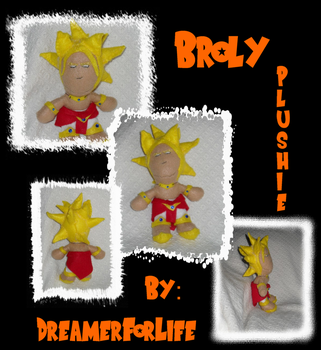Broly Plush StillLife Collage by DreamerForLife