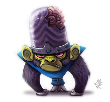 Daily Paint #645. Mojojojo by Cryptid-Creations