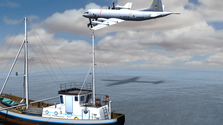 Daz Caparros Mausel P3 Fishingboat Flyby 7 by anthsco