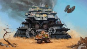 Mortal Engines: chase by eleth-art