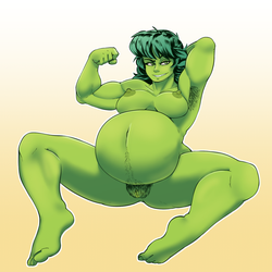 Pregnant She-Hulk by anonymous1999