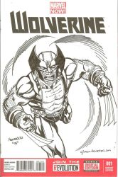 Wolverine Sketch cover by qiunzo