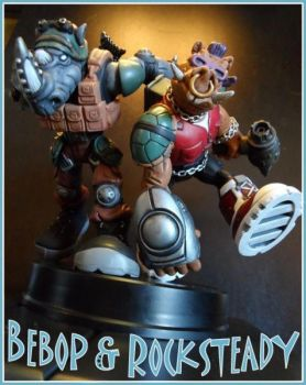 Bebop and Rocksteady by FigureHunterCustoms