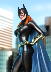 City Batgirl by KRTArt