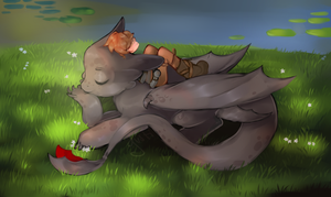 Hiccup and toothless by Jonsis