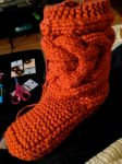 Side 1 of 2 Cable Slipper Boot by EsBest