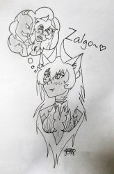 Hell cat and Zalgo  by Elmer157Typhlosion