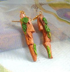 Forgotten Temple Polymer Clay Earrings by aldcord