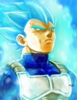 vegeta SSjBlue plus video by Mark-Clark-II