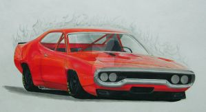 Plymouth Satellite 1972 Custom :D by xMadish