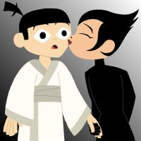 Young Jack and Ashi by Paleotoons