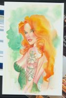 Poison Ivy watercolor by MichaelDooney