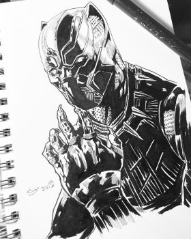6/6 Black Panther week by shaotemp