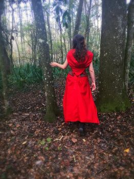 Little Red in the Woods by obeytherandomness