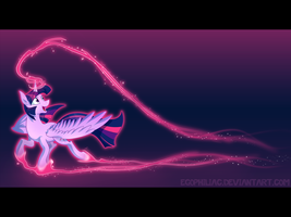 twilight sparkles - wallpaper by egophiliac