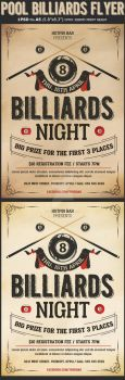 Pool Billiards Flyer Template by Hotpindesigns