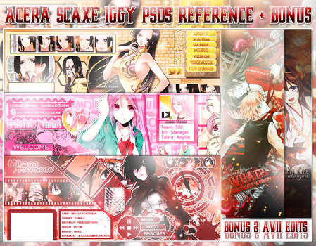 1st PSD Pack Iggy Style by AceraScaxe