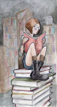 The Avid Reader by bms-DA