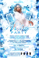 white party roxy flyer by DeityDesignz