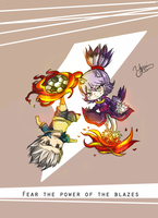 Fear the power of the Blazes (Crossover) by YamiMana