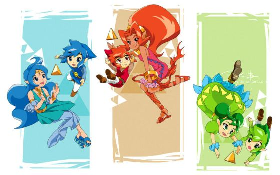 Red Blue Green Heroes by ruistyfles