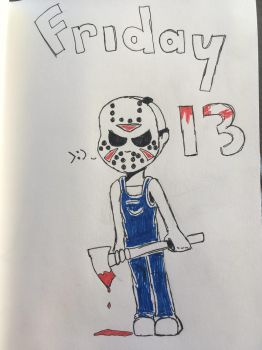 Inktober 13, Friday the 13 :) by Andrea6675