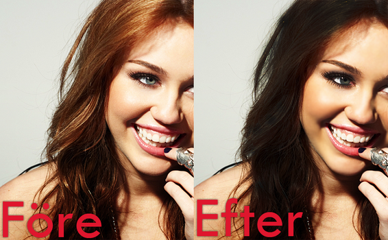 Miley Cyrus before and after by Cicciz