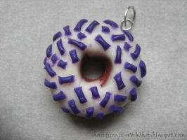 Another donut with violet topping by Panna-Kot