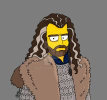thorin oakenshield simpsonized by melcasipit