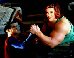 Supes arm wrestles a girl? story by marknew742 by 04Brutale