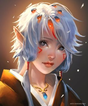 Elf child by sakimichan