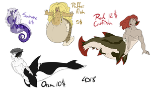 Aquataur Adopts: OPEN 1/4 (50% OFF) by br00d-mother