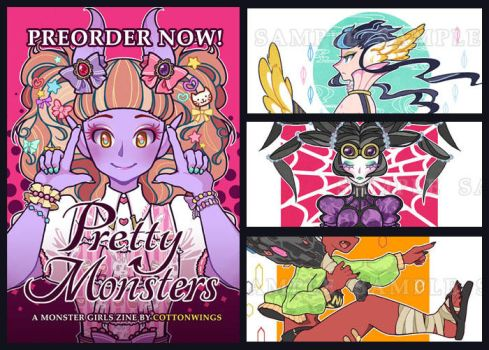 PRETTY MONSTERS ZINE #1 (PREORDER NOW) by cottonwings