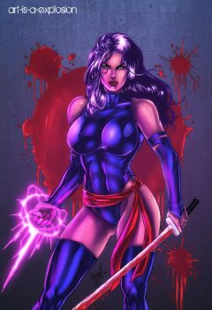 Red and Purple Rain by Art-is-a-Explosion