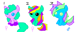 mlp ~ baby adopts [OPEN] by Bubblegumartt