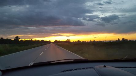 Cavenago Sunset on the road by Davi80