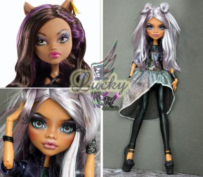 MH Clawdeen repaint #17 ~ Lucky~ by RogueLively