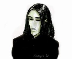 Snape crying by santagro