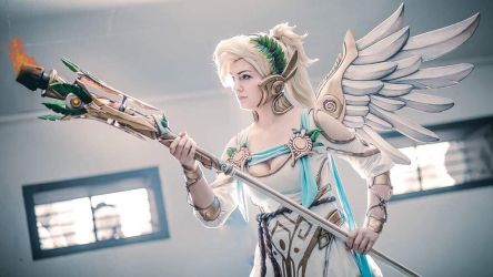 Mercy Winged Victory by LaraWegenaerArts