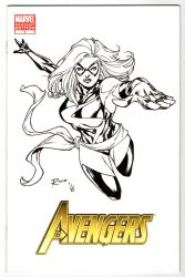 Ms Marvel Sketch cover by pencilsandstrings