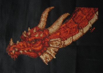 Dragon cross stitch by Santian69