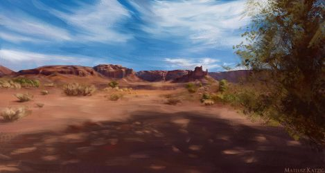 Virtual Plein Air - Valley of the Gods, Utah, US by Narholt